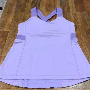 Women's Size 8 lululemon light purple running top